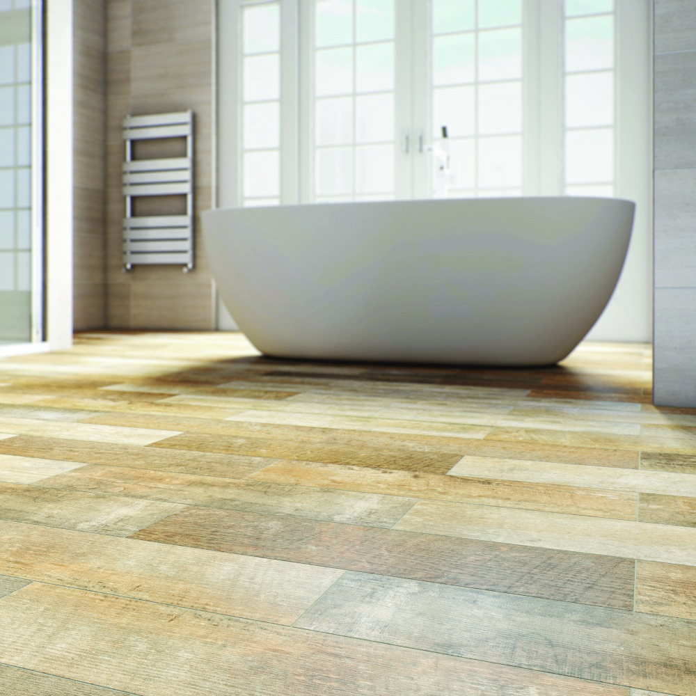 Feature floor tiles