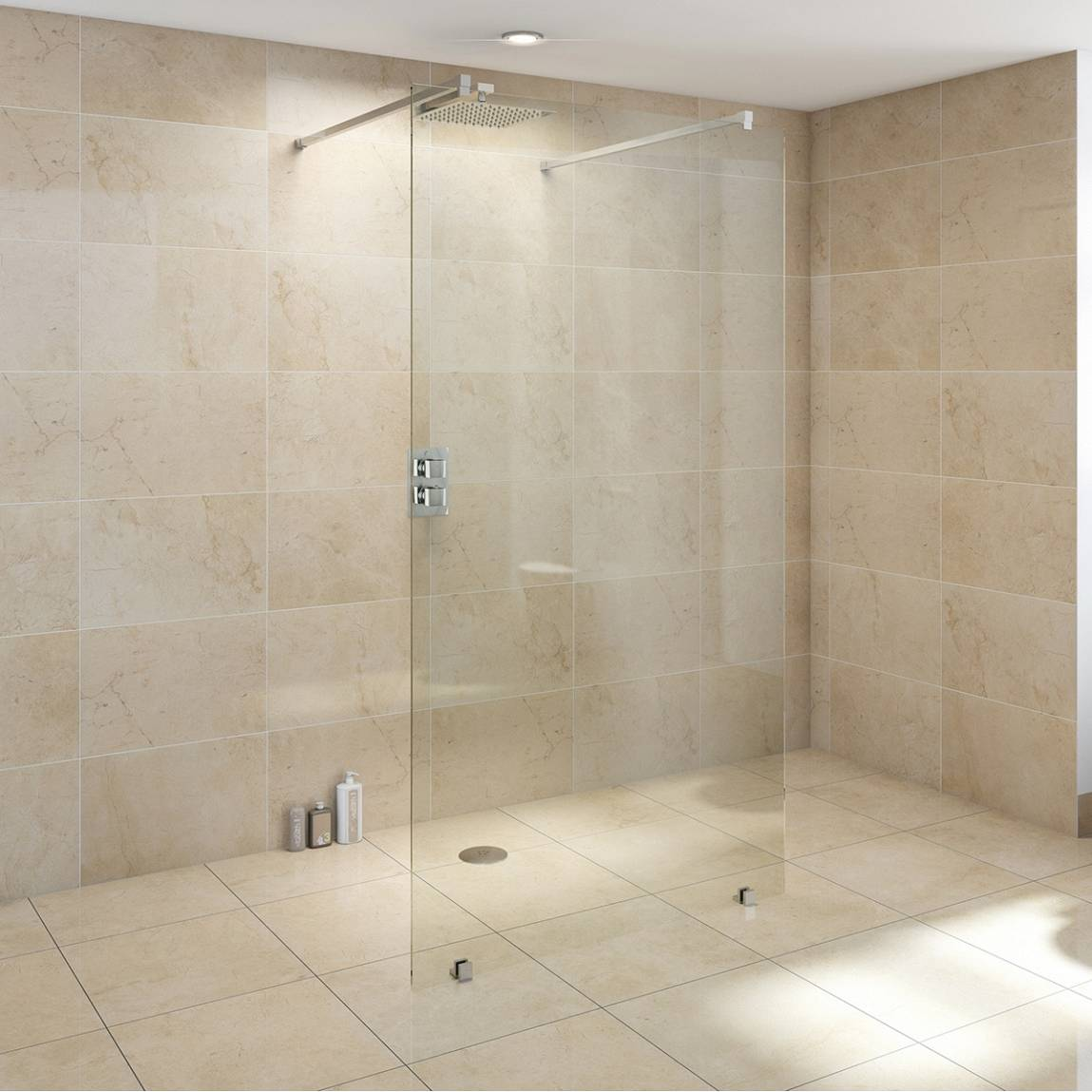 Wet room glass screen