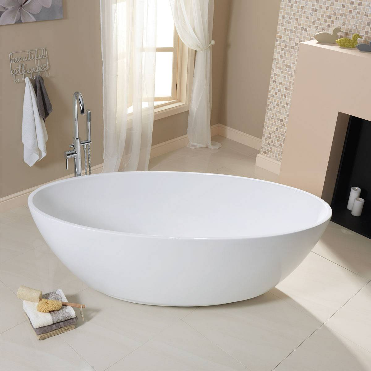 Add Instant Style With A Freestanding Bath