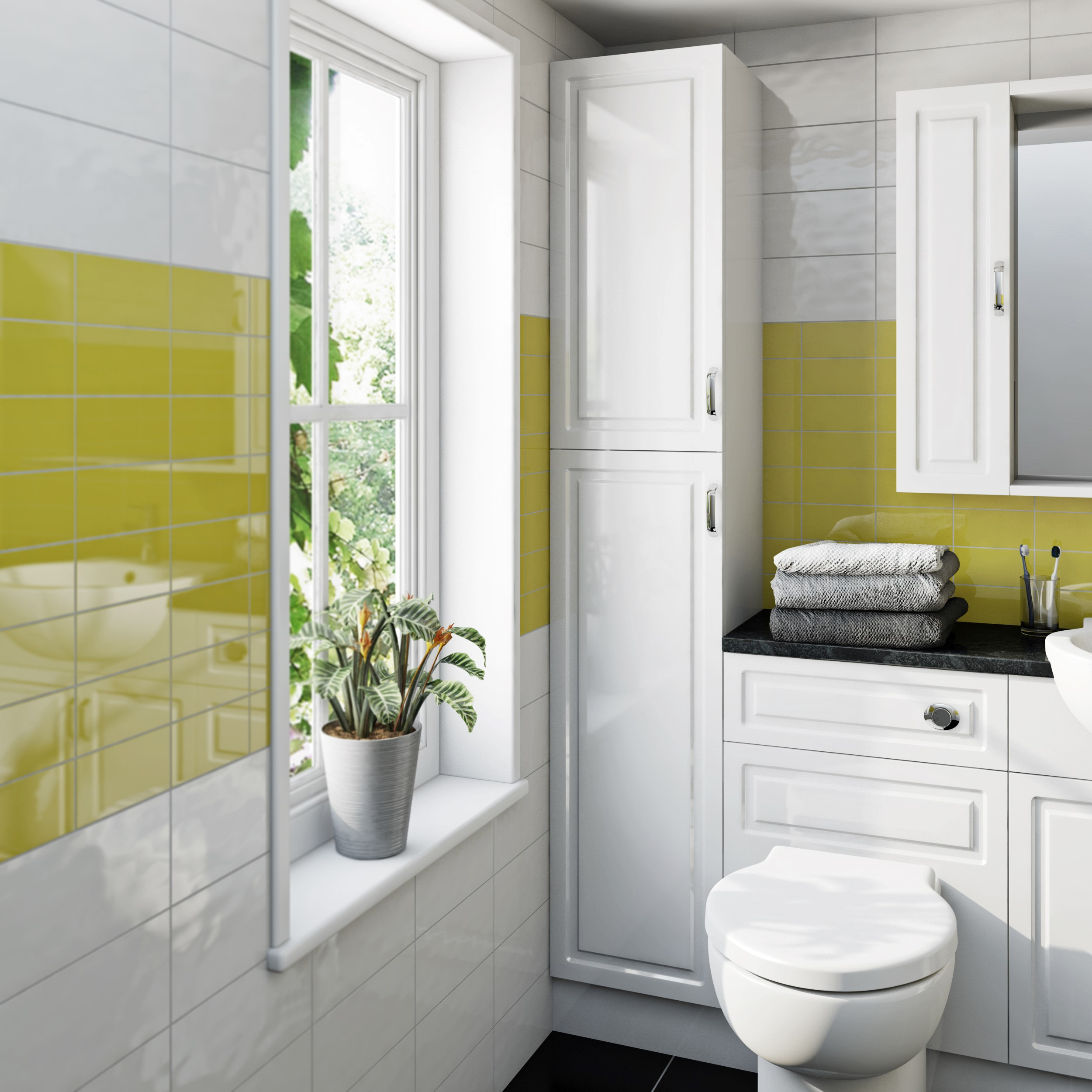 Glass canary tile