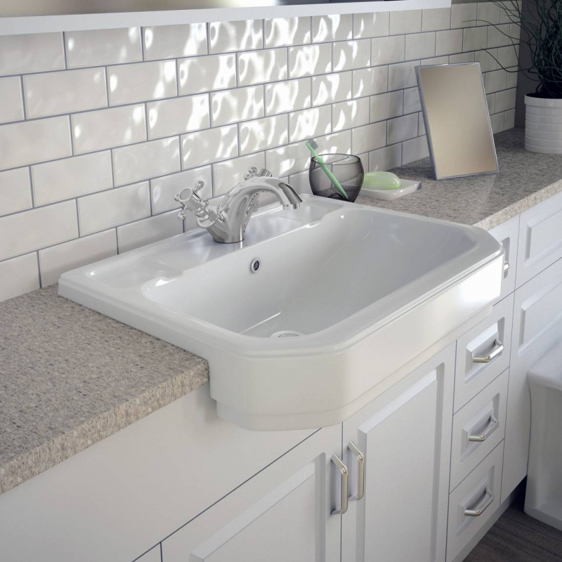 Regency Semi Recessed Basin.