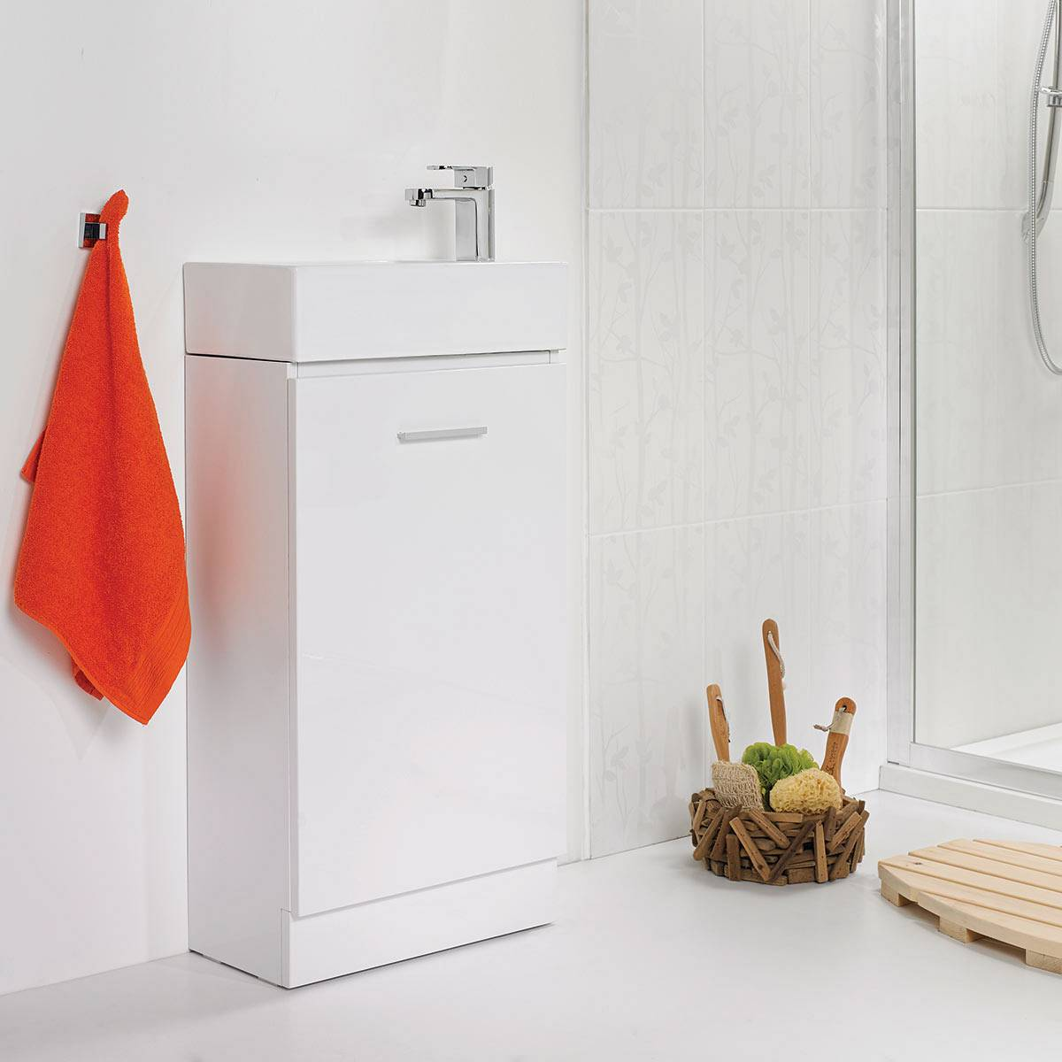 Compact Unit White Basin