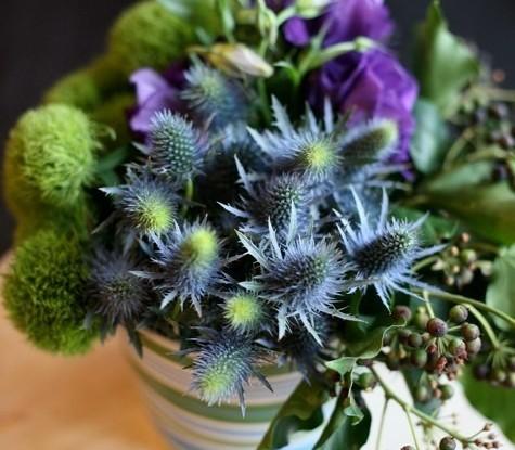 Thistle floral design