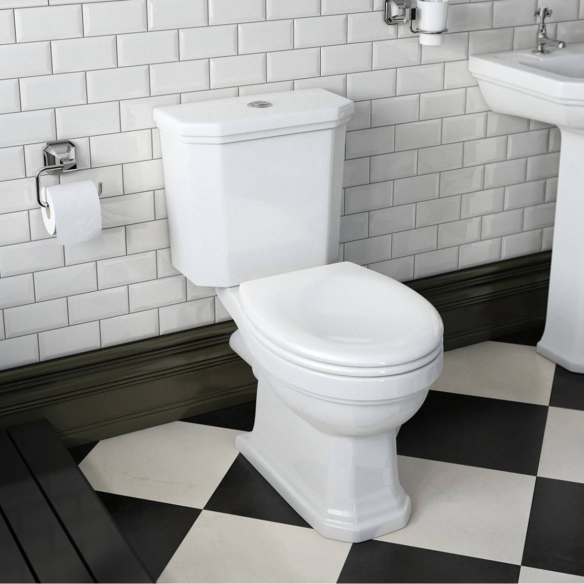 Classic design combined with modern technology make the Regency Close Coupled Toilet an ideal choice.