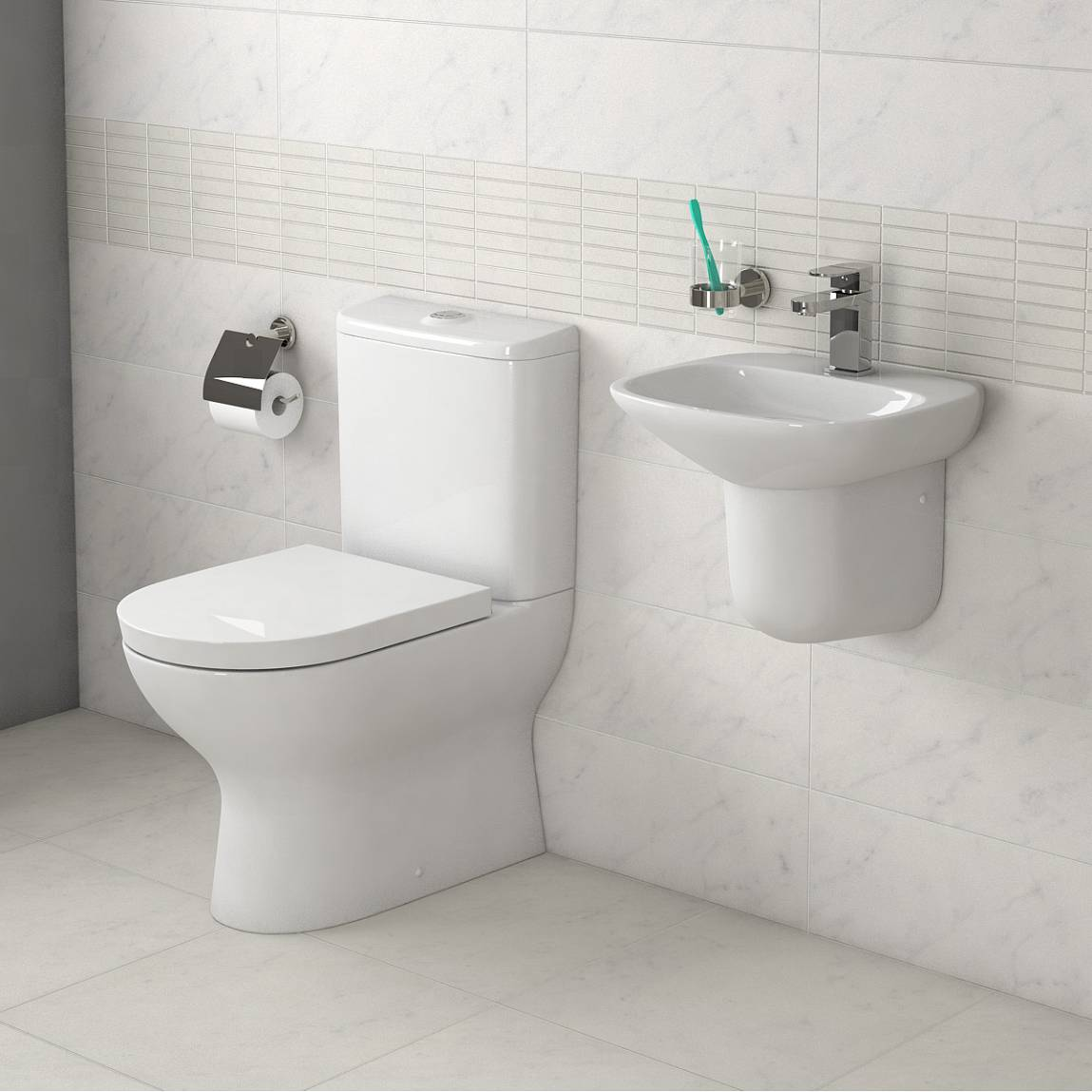 Fairbanks Toilet and basin Suite