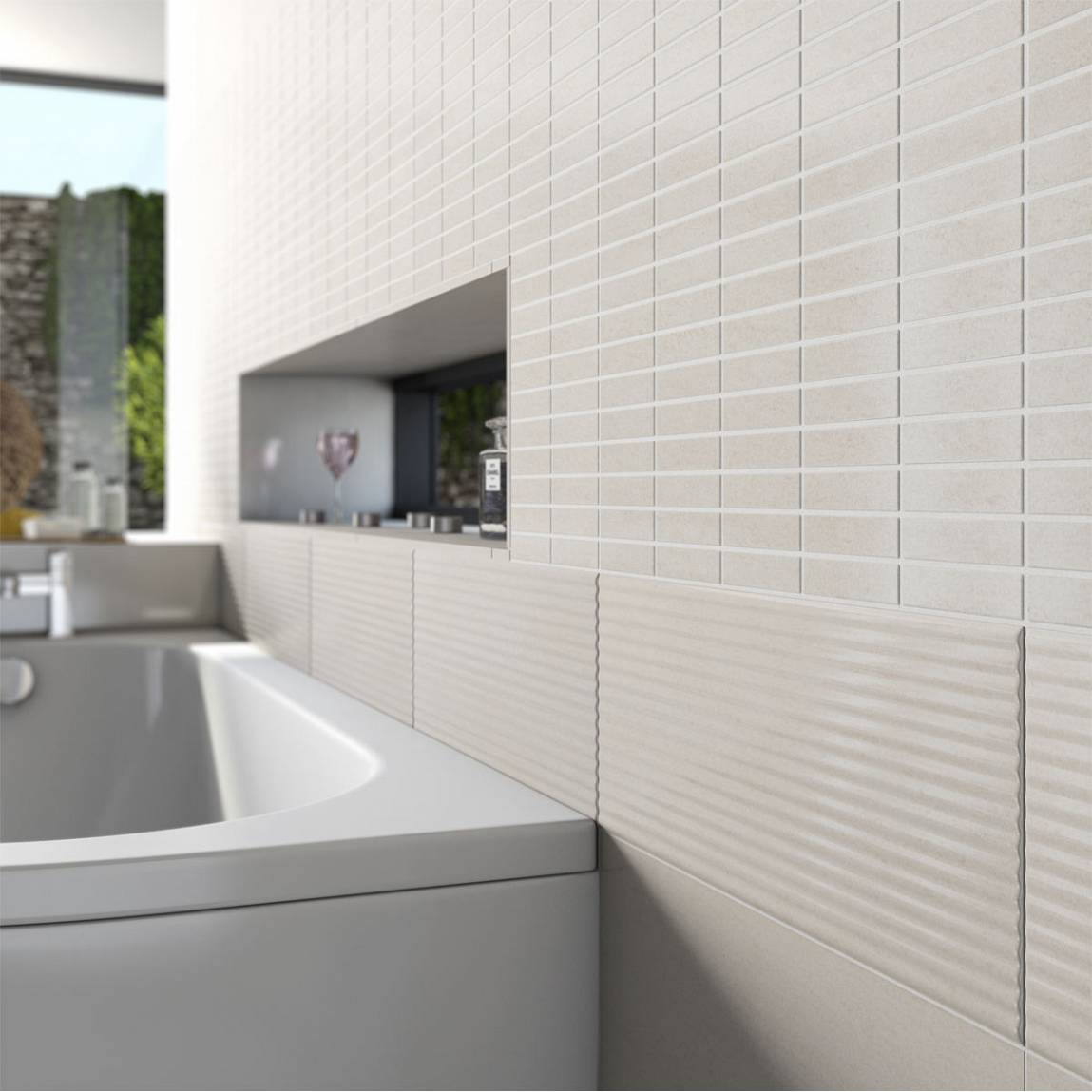 Lucia mosaic effect ceramic wall tile
