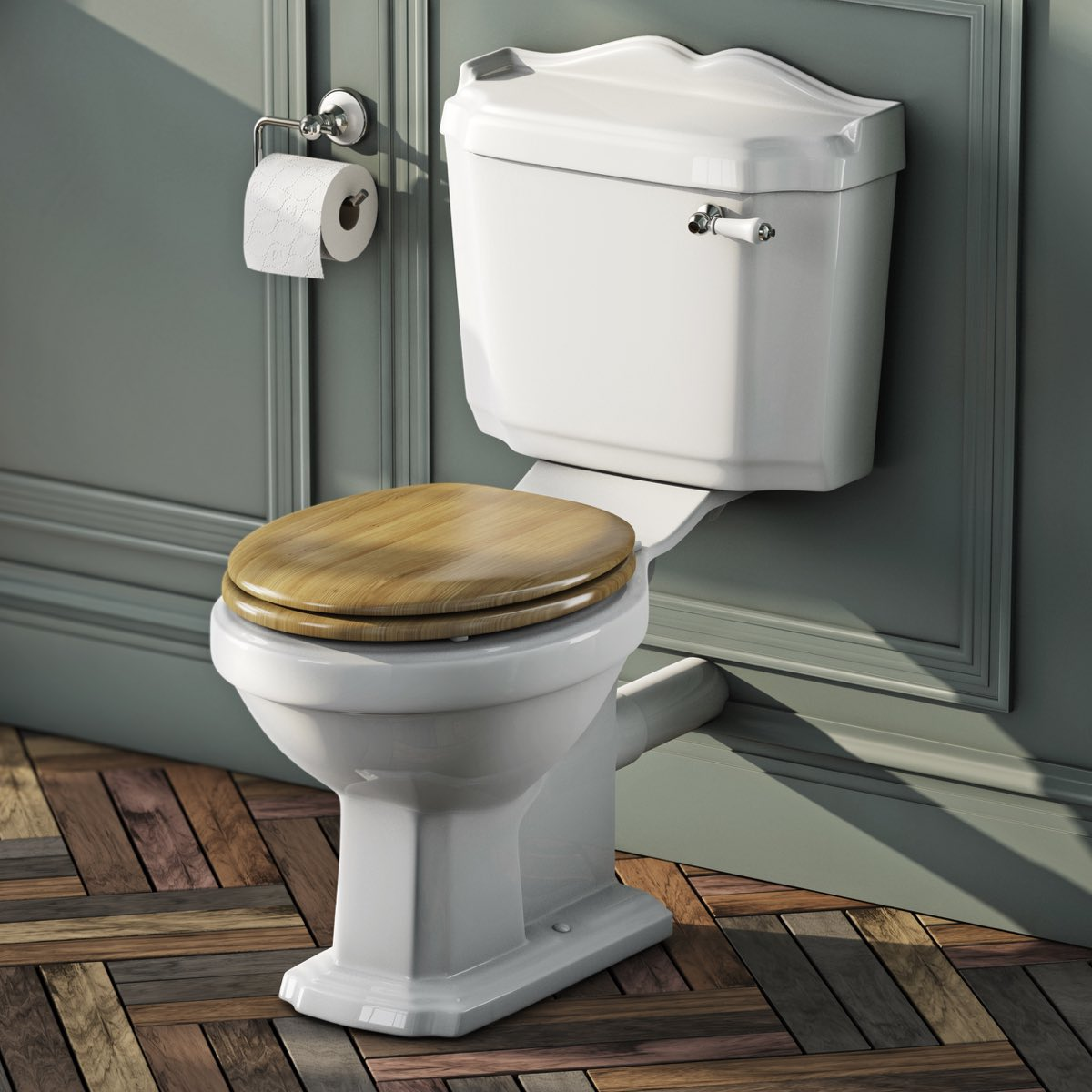 Great Oak Effect Toilet Seat
