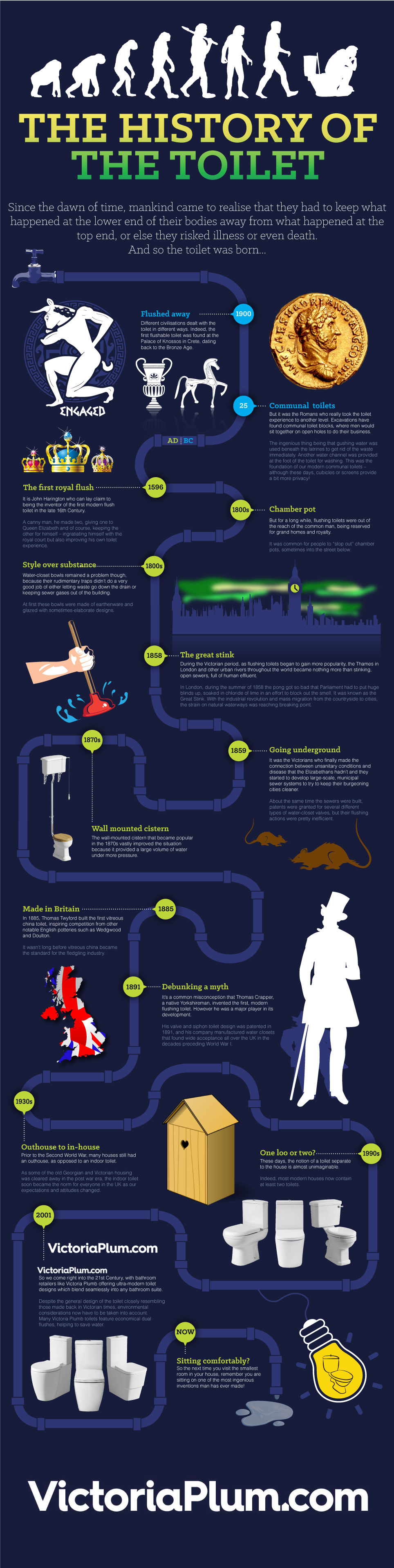History of the Toilet Infographic