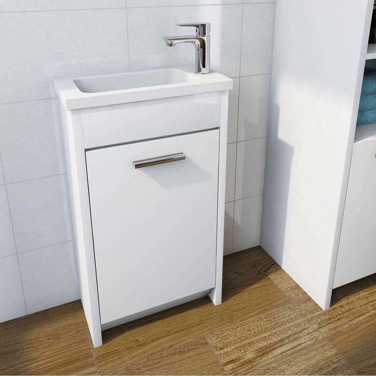 Smart white compact unit with basin