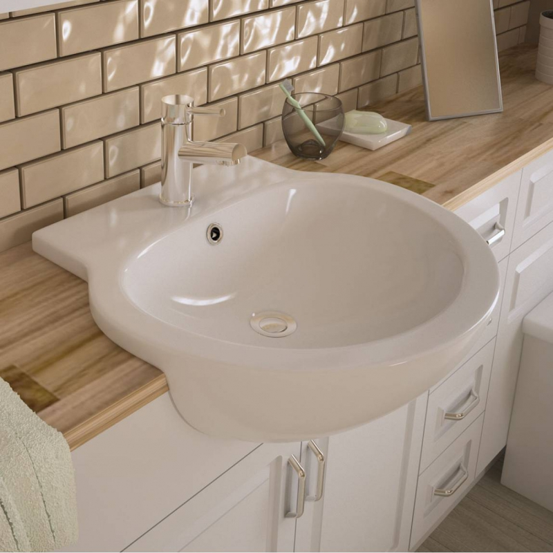Semi Recessed Basins Buying Guide VictoriaPlum Com Maine Semi Recessed  Basin Waste. Fully Recessed Bathroom