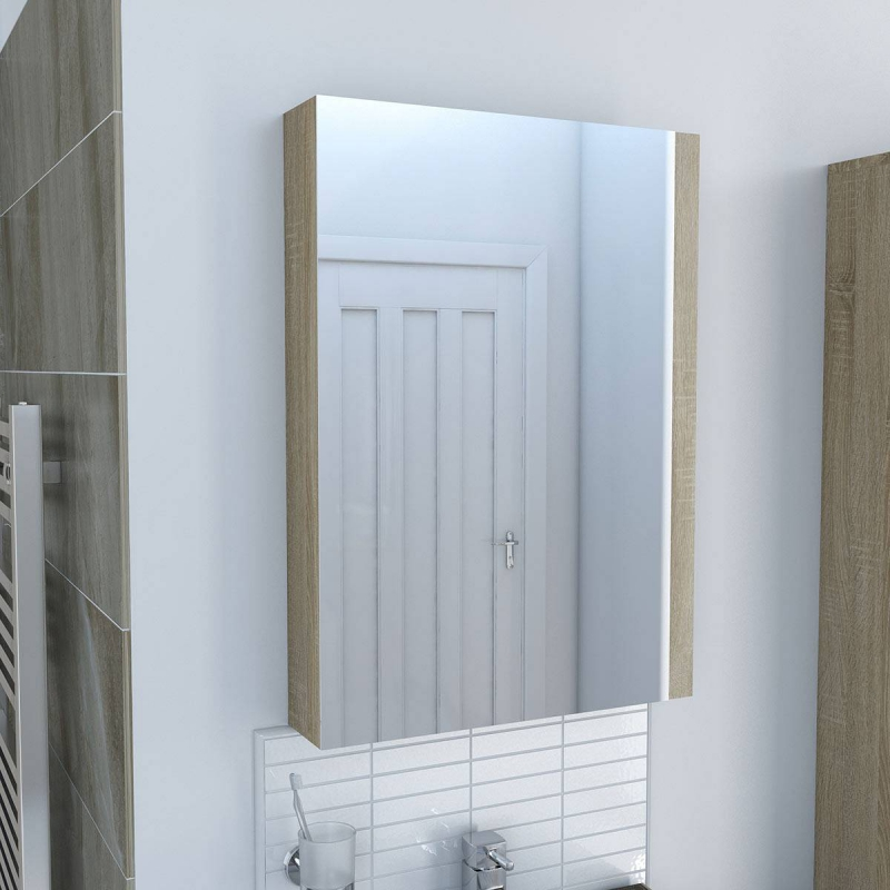 Drift Sawn Oak Mirror Cabinet
