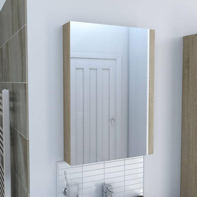 Drift Sawn Oak Mirror Cabinet