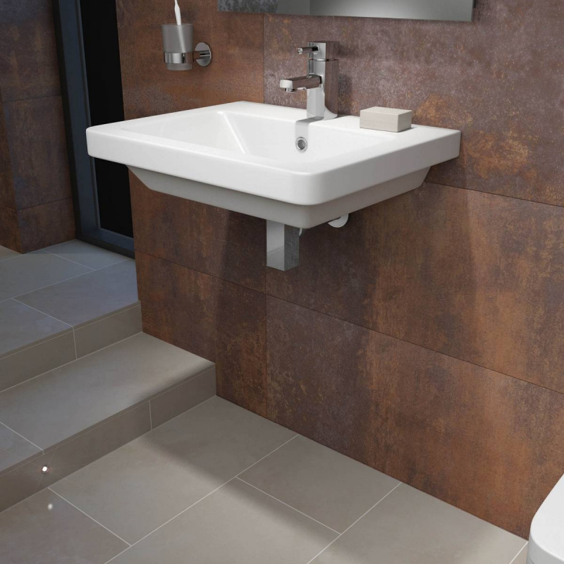 Verso 1TH 550mm Wall Hung Basin
