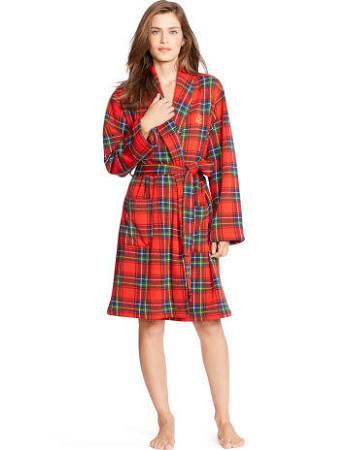 Tartan dressing gown