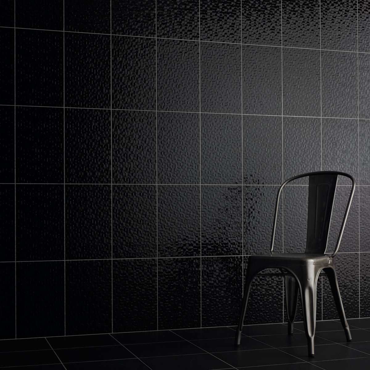 Studio Conran hartland black pressed mosaic tile