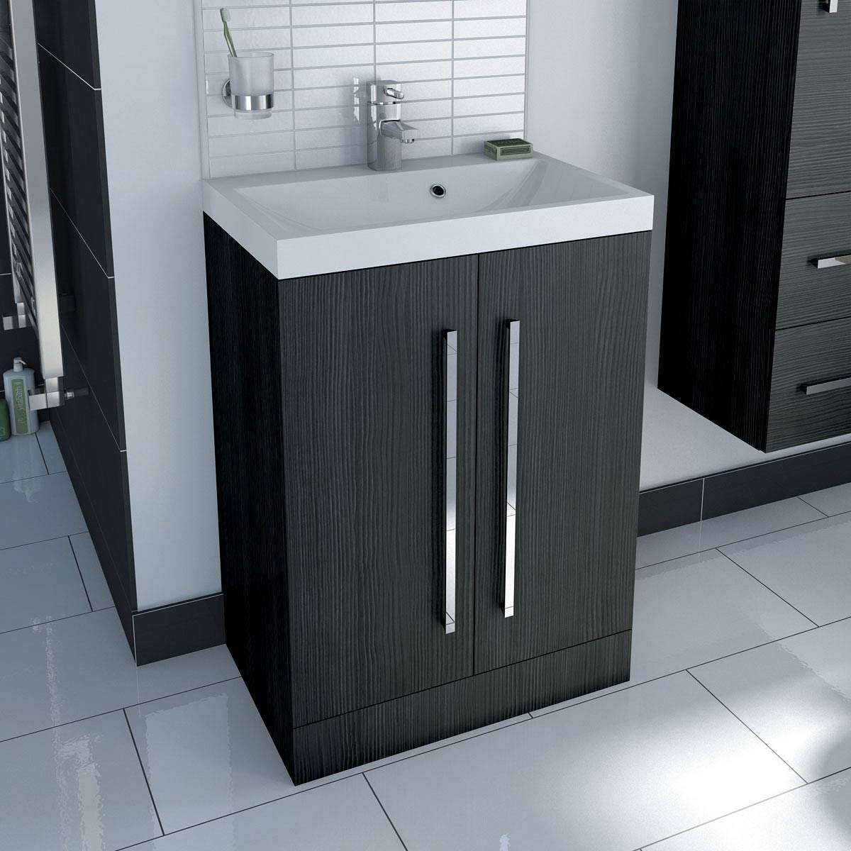 Drift essen 2 door floor mounted unit & basin