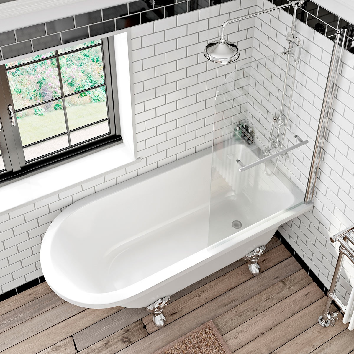 Introducing the new sally and shakespeare baths Bathroom designs with separate tub and shower