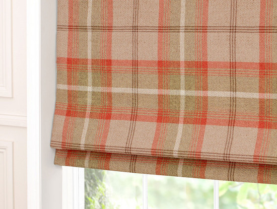 Tartan window blind
