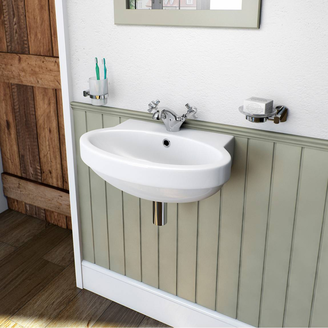 Deco wall mounted basin