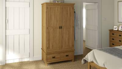 Rome Oak Gents Wardrobe