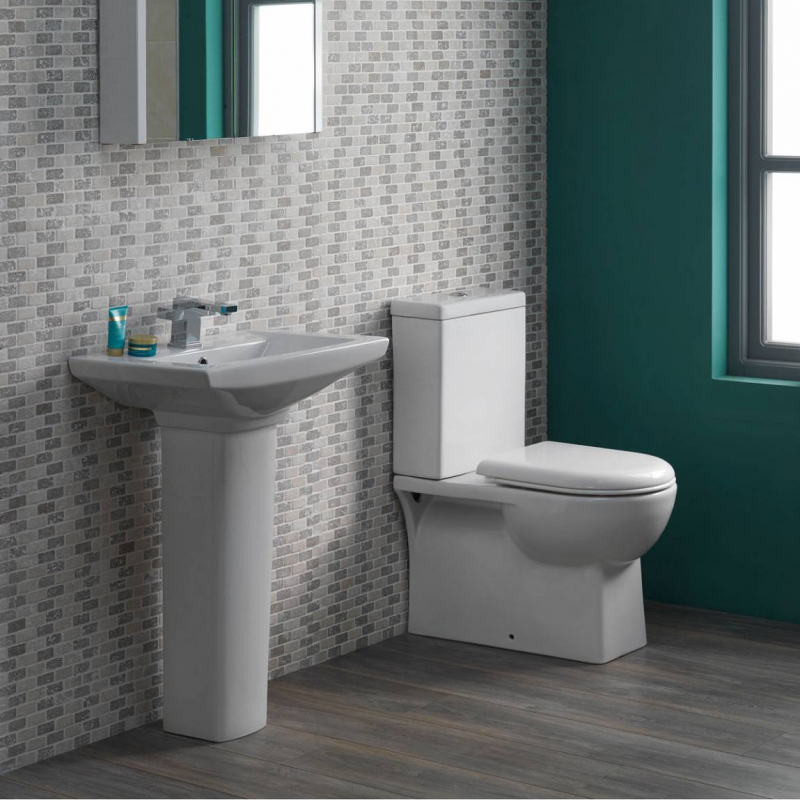 Brent toilet and basin suite