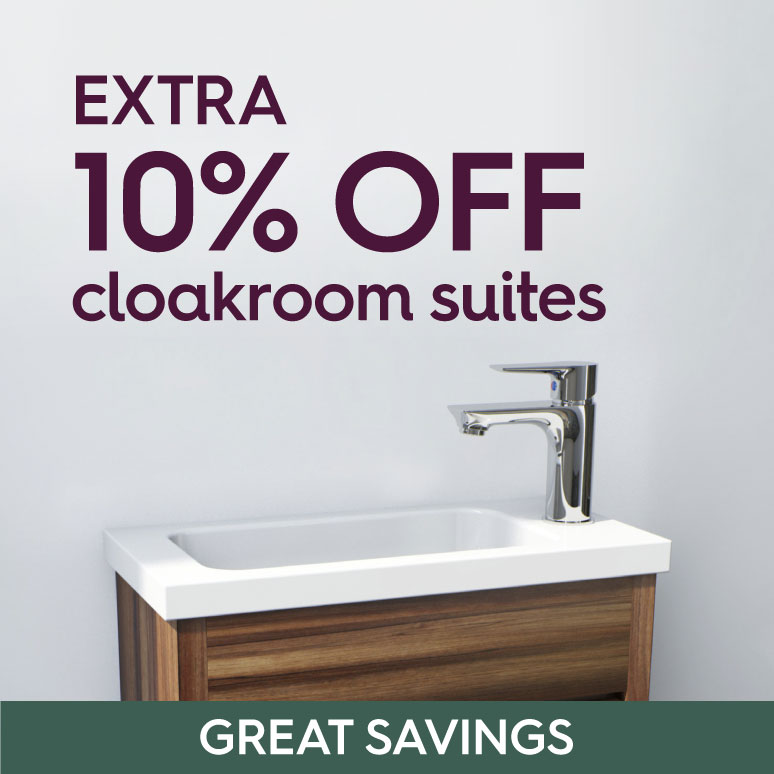 Save an extra 10% on cloakroom suites