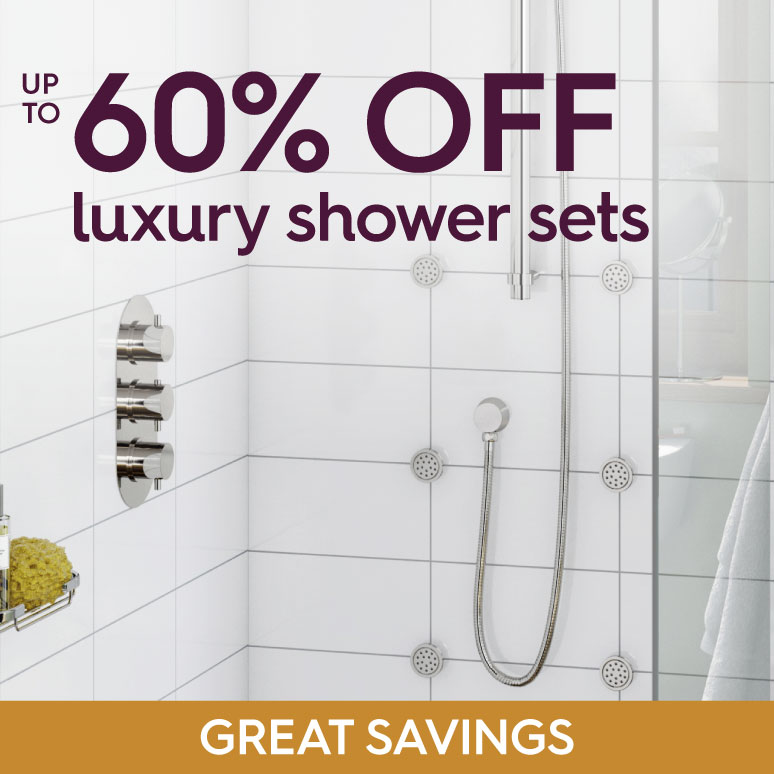 Up to 60% off luxury shower sets