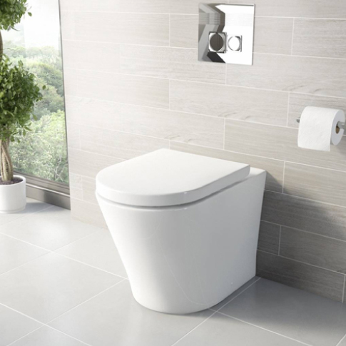 arc bath to wall toilet