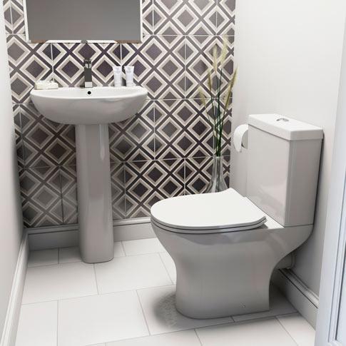 Compact Round Bathroom Suite Range