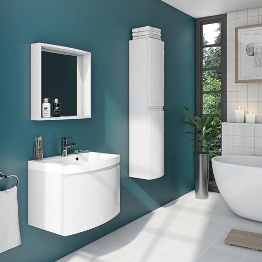 Curvaceous Snow Bathroom Furniture