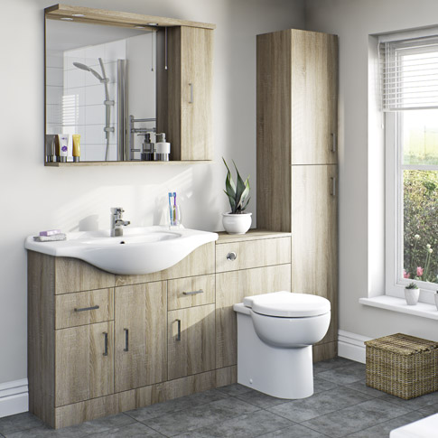 Sienna Oak Bathroom Furniture