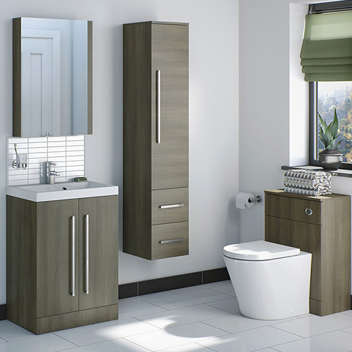 Drift Walnut Bathroom Furniture Range