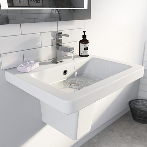 white wall hung basin