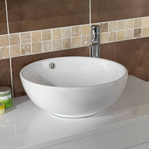 white counter top basins
