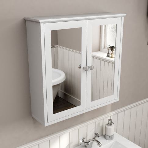 square bathroom mirror with light