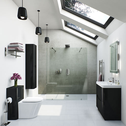 Planet Black Bathroom Furniture