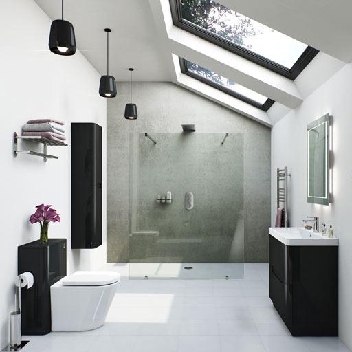 Planet Black Bathroom Furniture