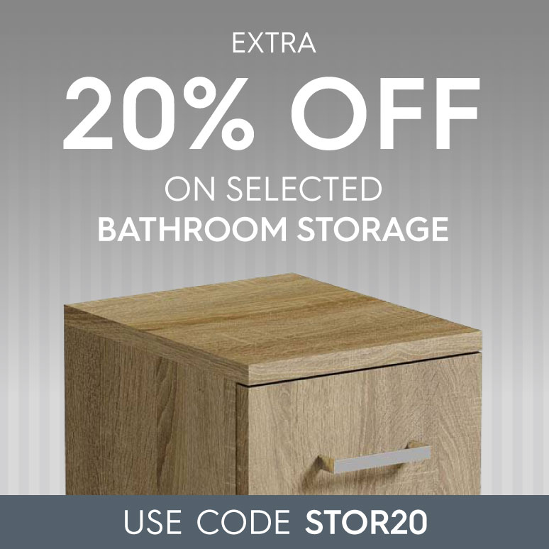 Extra 20% off on selected bathroom storage