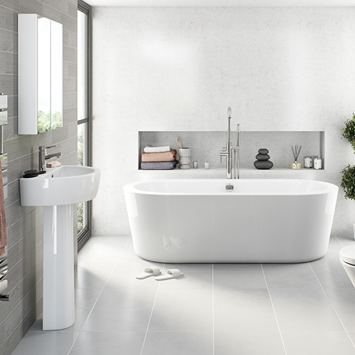 arc freestanding bath and basin