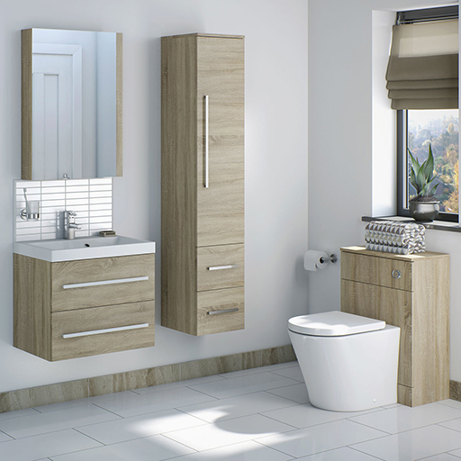 Drift Sawn Oak Bathroom Furniture