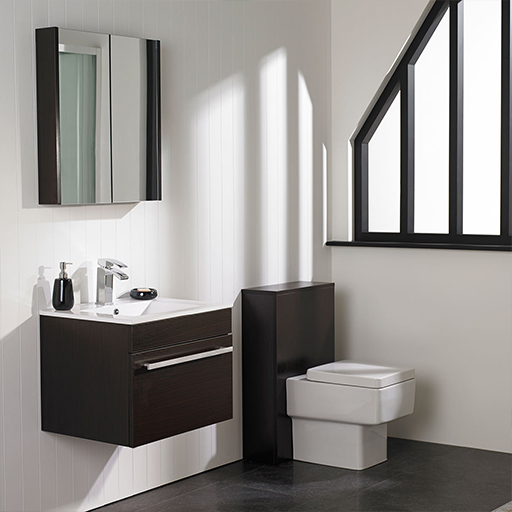 Wenge bathroom furniture elegant brown wenge bathroom for Wenge bathroom mirror