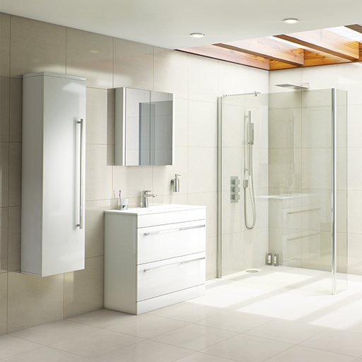 Odessa White Bathroom Furniture