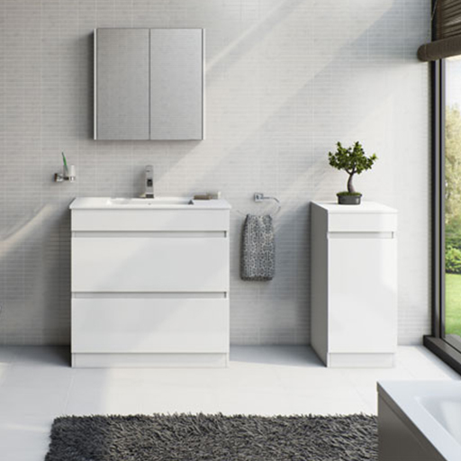 Plan White Bathroom Furniture