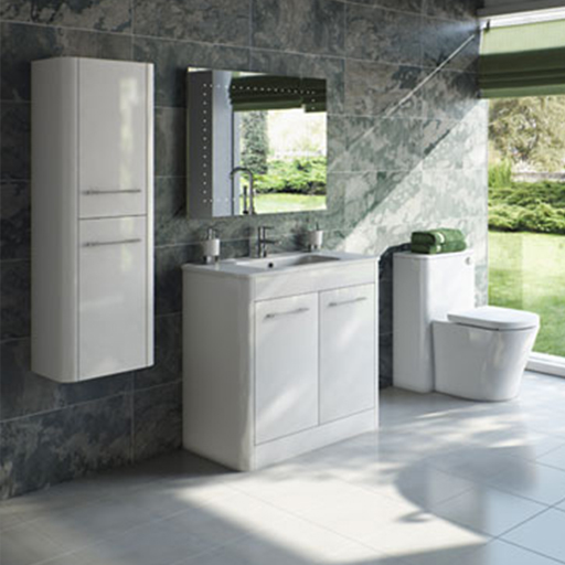 Sky White Bathroom Furniture