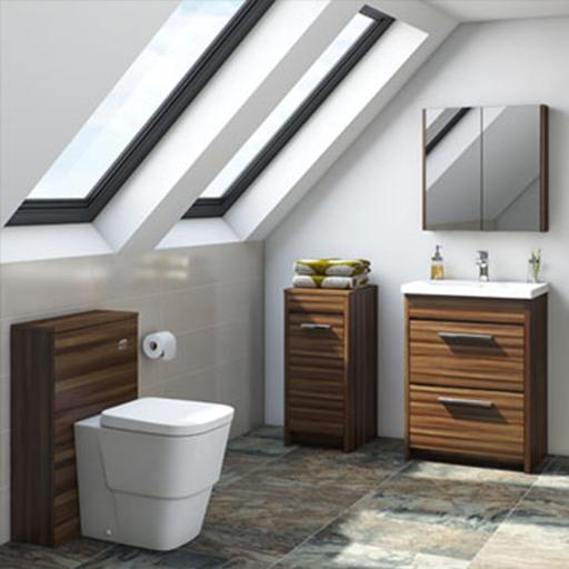 Smart Walnut Bathroom Furniture