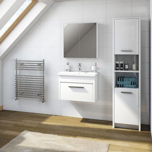 Smart White Bathroom Furniture