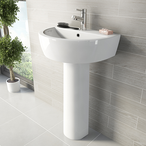 arc pedestal basin