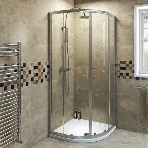 curved sliding shower enclosure