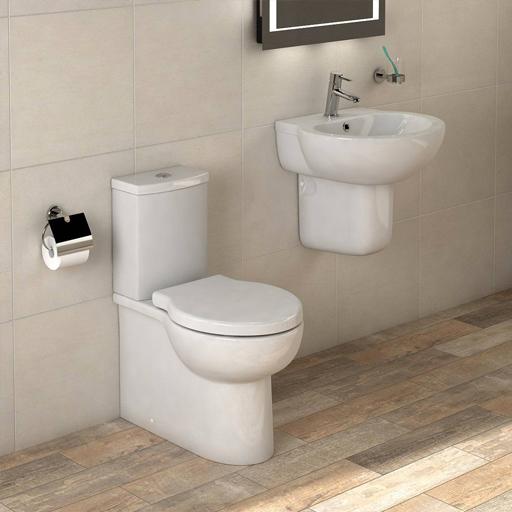 toilet and wall hung basin