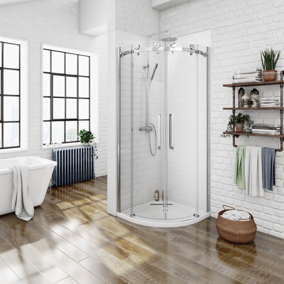 V8+ Frameless Quadrant Shower Enclosure 900